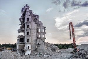 Обследование разрушенного здания